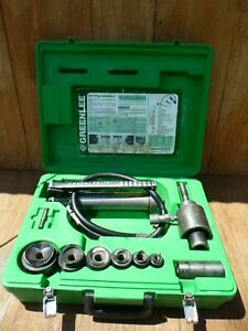 Greenlee 7306 Hydraulic Knockout Punch Driver Metal Set 1 2 To 2 Conduit