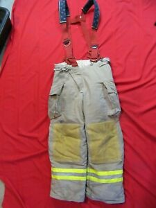 2008 Quest Mens 38 X 31 Pants Suspenders Firefighter Turnout Thermal Liner