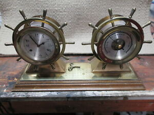 Salem Ships Bell Clock And Barometer Very Nice Condition Maritime Clock