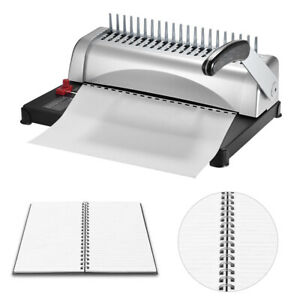 21 Hole 450 Sheets Combs Binding Machine Paper Punch Binder Office Supplies Q3f5