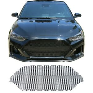 Ccg Gloss Black Precut Mesh Grill Insert For A 2019 20 Hyundai Veloster Grille