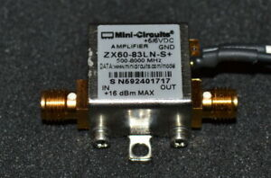 Mini Circuits Zx60 83ln s Low Noise Amplifier 500mhz 8ghz 19 9db Gain Qty Avai
