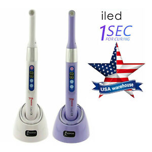 100 Woodpecker Dental Iled Curing Light 1 Second Cure Lamp 2300mw cm2 2color