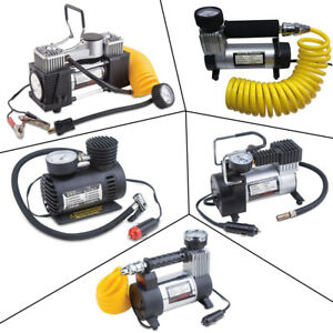12v 150 300 Psi Air Compressor Electric Pump Tire Inflator For Cars Bikes Toys