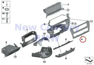 Bmw Genuine Mounting Parts I Panel Bottom Centerstack Cover Panel F25 F26