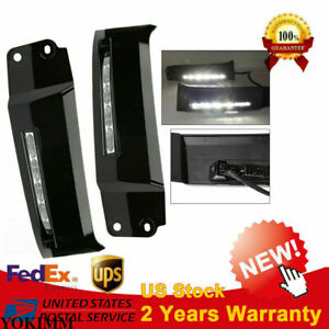 2x Led Front Bumper Built in Drl Fog Light Driving Lamp For 07 13 Toyota Tundra