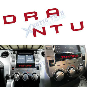 Red Radio Dashboard Letters Interior Vinyl Decal Sticker For Toyota Tundra 14 19