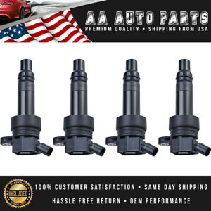 Pack Of 4 Ignition Coil Uf707 For Turbocharged 2013 2017 Hyundai Veloster