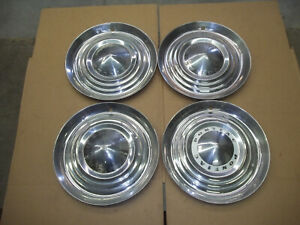 1954 54 Pontiac Bonneville Chief Hubcap Rim Wheel Cover Hub Cap 15 Oem Used Set