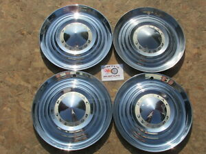 1954 Pontiac Star Chief Chieftain Deluxe 15 Wheel Covers Hubcaps Set Of 4