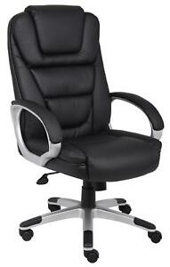 Executive Leather Plus Chair With Knee Tilt Black Leather B8602