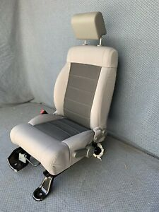 2007 2008 2009 2010 Jeep Wrangler Front Driver Seat Manual Bucket Seats In Gray
