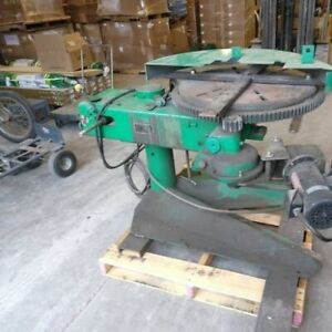 P h Welding Positioner 24 Turntable T slots Variable Speed Hydraulic Tilting