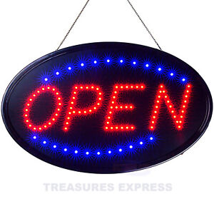 Led Neon Open Sign Static Flashing Modes Stores Bars Barber Shops 23 X 14
