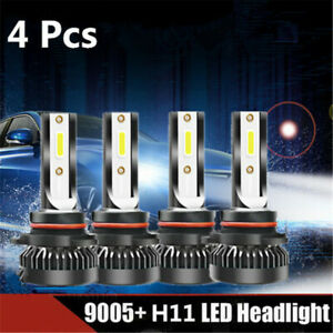 For 2016 2018 Chevrolet Cruze Led Projector Headlights Bulbs Kit 9005 H11 Combo