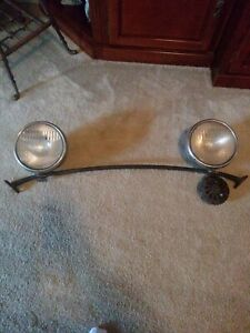 1930 S Ford Model A Head Lights With Bar Horn Ford Script Lenses Nice Origina
