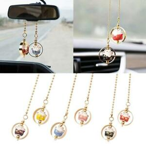 1 Car Rear View Mirror Hanging Decoration Lucky Cat Car Pendant Auto Accessories