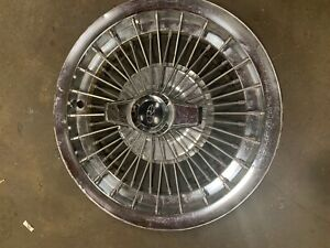 1963 1964 Buick Riviera Special 15 Wire Spoked Spinner Wheel Cover Hub Cap 1