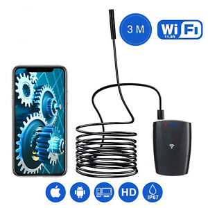 3m Wifi Borescope Endoscope Snake Inspection Camera For Iphone Android Ios Usa