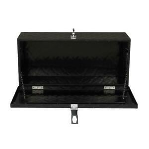30 Black Aluminum Underbody Trunk Bed Trailer Tool Box Storage W lock