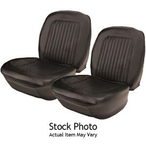 Pui 67as10u Bucket Seat Upholstery 67 Chevelle Blk Pair
