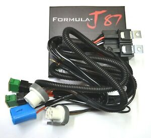Relay Wire Harness 40a 9007 Hb5 Head Light Replace Socket Connector Two Output