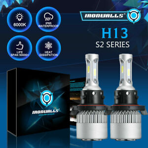 H13 9008 Led Headlight Bulbs Hi lo Beam 2000w 6500k For Ford F 150 F 250 F 350