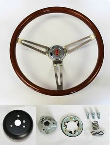 64 65 66 Oldsmobile 442 F85 Cutlass 98 Wood Steering Wheel High Gloss 15