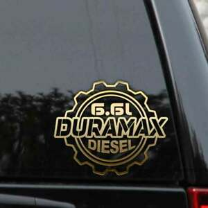 Duramax 6 6l Diesel Truck Decal Sticker Chevy Gmc Turbo Window Laptop