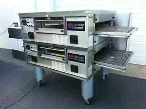 2014 Middleby Marshall Ps555g Double Deck Conveyor Pizza Oven belt Width 32