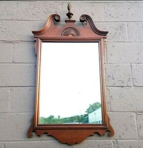 Antique Solid Mahogany Georgetown Galleries Wall Mirror
