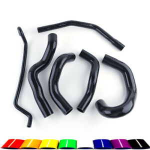 Black For Ford Mustang Gt Shelby V8 2005 2010 06 07 Silicone Radiator Kit Hose