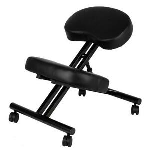 Ergonomic Kneeling Chair Adjustable Stool Furniture Knee Rest Thick 265lbs