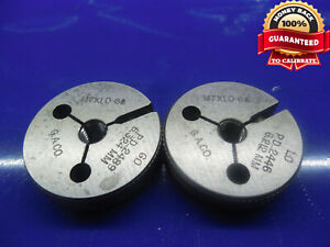 M7 X 1 0 6g Thread Ring Gages 7 0 X 1 Go No Go Pds 6 324 6 212 2489 2449