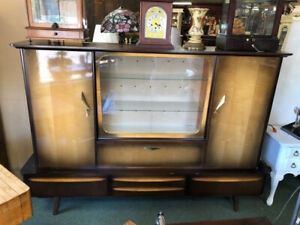 Large Unusual 1940 S Display Cabinet Perfect For Repurpose Tv Stand