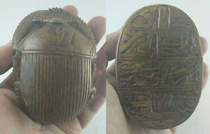 Rare Ancient Egyptian Antique Scarab Carved Stone 1798 1569 Bc