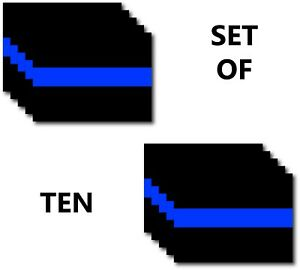 Thin Blue Line Usa Police Officer 3m Vinyl Decal Sticker Pack Of 10 Car Truck