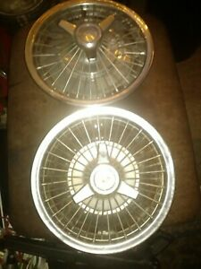 2 Chevy chevrolet Wire spoke Hubcaps vintage classic impala caprice