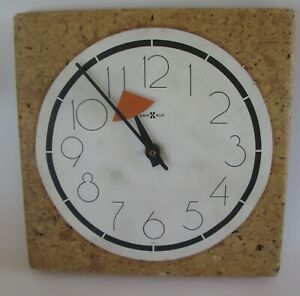 Howard Miller Cork Wall Clock George Nelson Mid Century Modern Parts