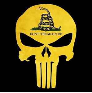 Punisher Skull Gadsden Flag Don T Tread On Me Sticker Decal Usa Made