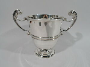 George V Trophy Cup Antique Classical Urn English Sterling Silver 1922