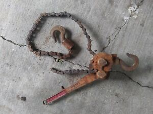 Yale Hand Lever Chain Hoist 1 1 2 Ton Pul lift Ratchet Lever Come Along Model C