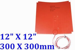 12 X 12 300 X 300mm 24v 400w 3m Silicone Heater 3d Printer Heatbed Cut Corners