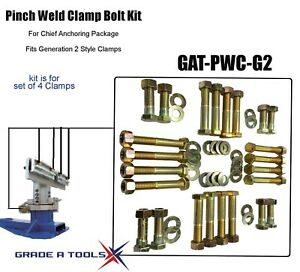 Chief Pinch Weld Clamp Bolt Service Kit Generation 2