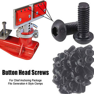 Serrated Jaws Grip Screws For Chief Frame Machine Generation 4 Style Anchoring