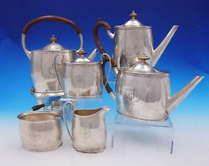 Pointed End By Arthur Stone Sterling Silver Tea Set 6pc Arts And Crafts 3527