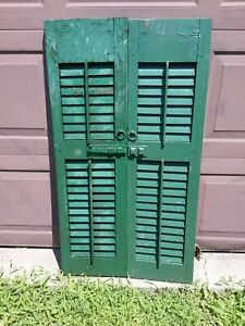 1800 S Louvered Shutters 47 3 4 Exterior Wood House Window Doors