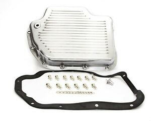 Transmission Pan Turbo 400 Polished Aluminum Racing Power Co packaged R8492