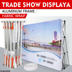8 8 Ft Pop Up Backdrop Frame Display Trade Show Wall Booth Tension Exhibition