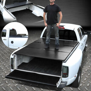 Ram 1500 2500 3500 5 7ft Lock Folding Hard Tonneau Cover Truck Bed For Dodge